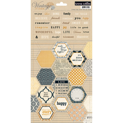 Teresa Collins - Vintage Finds Collection - Cardstock Stickers - Two
