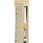 Teresa Collins Designs - Vintage Finds Collection - Border Strips with Glitter Accents