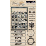 Teresa Collins - Vintage Finds Collection - Clear Acrylic Stamps - One