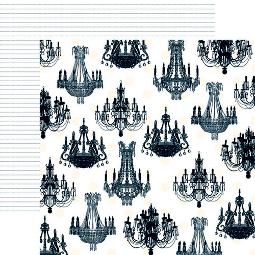 Teresa Collins - Welcome Home Collection - 12 x 12 Double Sided Paper - Chandelier, BRAND NEW