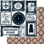 Teresa Collins - Welcome Home Collection - 12 x 12 Double Sided Paper - Home