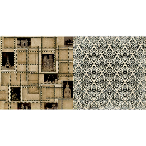 Teresa Collins - World Traveler Collection - 12 x 12 Double Sided Paper - Filmstrip