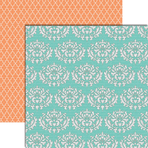 Teresa Collins Designs - Tell Your Story Collection - 12 x 12 Double Sided Paper - Damask
