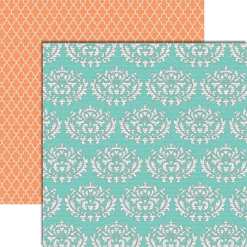 Teresa Collins - Tell Your Story Collection - 12 x 12 Double Sided Paper - Damask