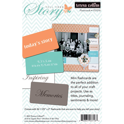 Teresa Collins Designs - Tell Your Story Collection - Flash Cards