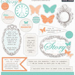 Teresa Collins - Tell Your Story Collection - Die Cut Chipboard Stickers - Elements