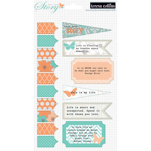 Teresa Collins - Tell Your Story Collection - Die Cut Cardstock