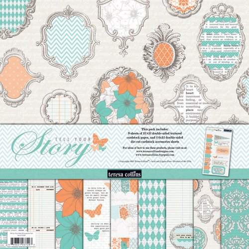 Teresa Collins - Tell Your Story Collection - 12 x 12 Paper and Accessories Pack