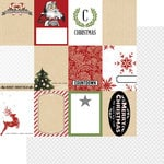 Teresa Collins Designs - Candy Cane Lane Collection - Christmas - 12 x 12 Double Sided Paper - Tags