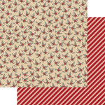 Teresa Collins Designs - Candy Cane Lane Collection - Christmas - 12 x 12 Double Sided Paper - Holly