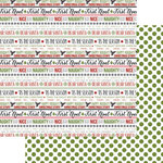 Teresa Collins Designs - Candy Cane Lane Collection - Christmas - 12 x 12 Double Sided Paper - Word Art