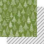 Teresa Collins - Candy Cane Lane Collection - Christmas - 12 x 12 Double Sided Paper - O Christmas Tree