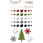 Teresa Collins - Candy Cane Lane Collection - Christmas - Enamel Dots and Shapes