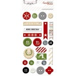 Teresa Collins Designs - Candy Cane Lane Collection - Christmas - Chipboard Buttons