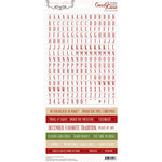 Teresa Collins Designs - Candy Cane Lane Collection - Christmas - Cardstock Stickers - Alphabet