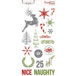 Teresa Collins Designs - Candy Cane Lane Collection - Christmas - Die Cut Chipboard Stickers - Elements