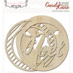 Teresa Collins Designs - Candy Cane Lane Collection - Christmas - Die Cut Wood Shapes - Ornaments