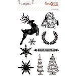 Teresa Collins - Candy Cane Lane Collection - Christmas - Clear Acrylic Stamps