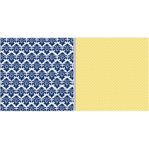 Teresa Collins - Everyday Moments Collection - 12 x 12 Double Sided Paper - Yellow Dots