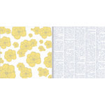 Teresa Collins - Everyday Moments Collection - 12 x 12 Double Sided Paper - Yellow Flowers