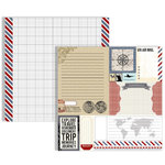 Teresa Collins - Far and Away Collection - 12 x 12 Double Sided Paper - Ephemera