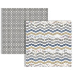 Teresa Collins - Far and Away Collection - 12 x 12 Double Sided Paper - Chevron