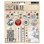 Teresa Collins - Far and Away Collection - Decorative Brads