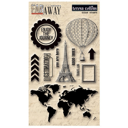 Teresa Collins - Far and Away Collection - Clear Acrylic Stamps