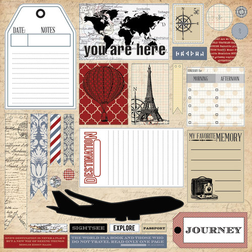 Teresa Collins - Far and Away Collection - 12 x 12 Die Cut Paper