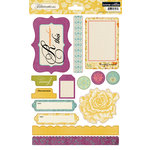 Teresa Collins - Fabrications Collection - Canvas - Die Cut Cardstock
