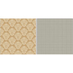 Teresa Collins Designs - Fabrications Collection - Linen - 12 x 12 Double Sided Paper - Tan Damask