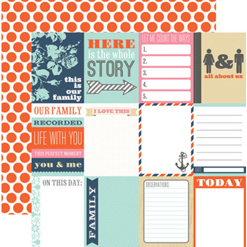 Teresa Collins Designs - Family Stories Collection - 12 x 12 Double Sided Paper - Notecards