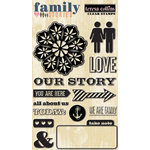 Teresa Collins Designs - Family Stories Collection - Clear Acrylic Stamps