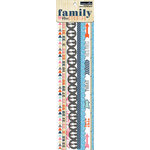 Teresa Collins Designs - Family Stories Collection - Border Strips with Glitter Accents