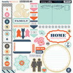 Teresa Collins - Family Stories Collection - 12 x 12 Die Cut Chipboard Stickers