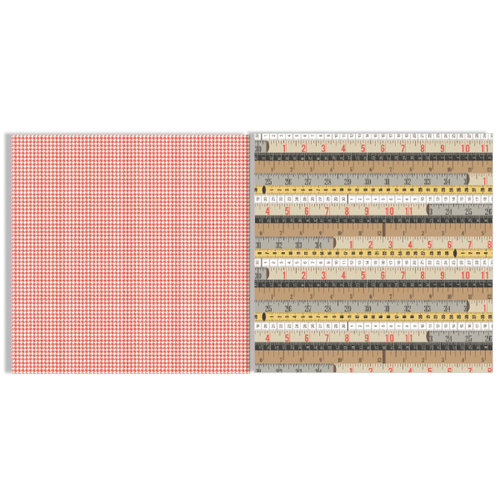 Teresa Collins Designs - He Said She Said Collection - 12 x 12 Double Sided Paper - Rulers