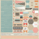 Teresa Collins - He Said She Said Collection - He Said - 12 x 12 Cardstock Stickers