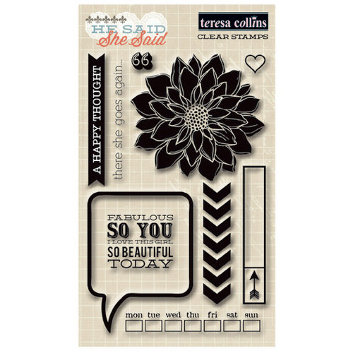 Teresa Collins - He Said She Said Collection - She Said - Clear Acrylic Stamps
