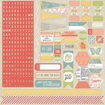 Teresa Collins - He Said She Said Collection - She Said - 12 x 12 Cardstock Stickers