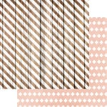 Teresa Collins Designs - Life Emporium Collection - 12 x 12 Double Sided Paper - Striped Wood