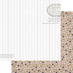 Teresa Collins Designs - Life Emporium Collection - 12 x 12 Double Sided Paper - Ledger