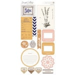 Teresa Collins - Life Emporium Collection - Die Cut Chipboard Stickers - Elements