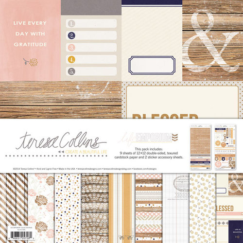 Teresa Collins - Life Emporium Collection - 12 x 12 Collection Pack