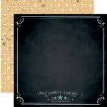 Teresa Collins - Memorabilia Collection - 12 x 12 Double Sided Paper - Chalkboard