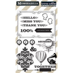 Teresa Collins Designs - Memorabilia Collection - Clear Acrylic Stamps