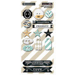 Teresa Collins Designs - Memorabilia Collection - Chipboard Buttons