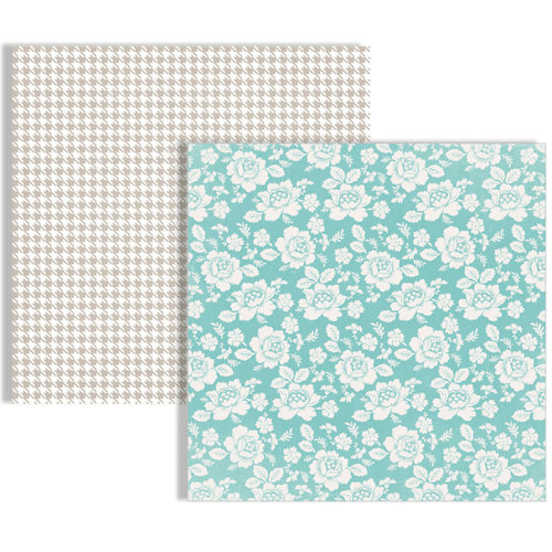 Teresa Collins - Memories Collection - 12 x 12 Double Sided Paper - Flowers