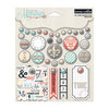 Teresa Collins Designs - Memories Collection - Decorative Brads