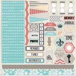 Teresa Collins - Memories Collection - 12 x 12 Cardstock Stickers