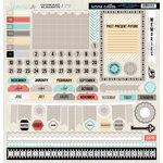 Teresa Collins - Memories Collection - 12 x 12 Die Cut Chipboard Stickers - Elements